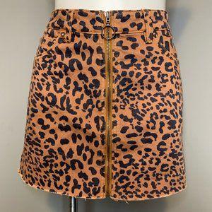 We the Free Cheetah Zip Skirt